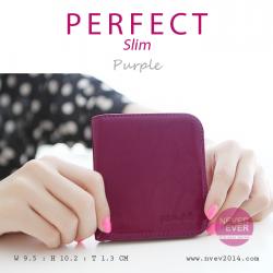 กระเป๋าสตางค์ผู้หญิง PERFECR Slim สีม่วง