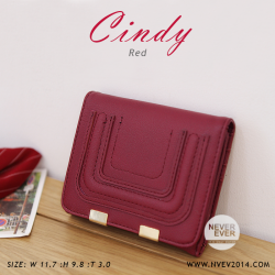 กระเป๋าสตางค์ผู้หญิง CINDY สีแดง