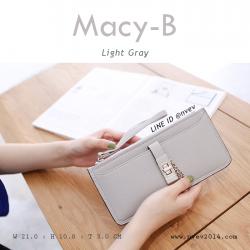 กระเป๋าสตางค์ผู้หญิง ทรงถุง รุ่น MACY-B สีเทาอ่อน