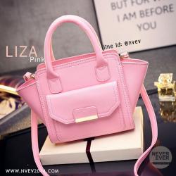 กระเป๋าสะพายข้าง รุ่น LIZA สีชมพู PINK