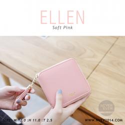 กระเป๋าสตางค์ผู้หญิง ELLEN สีชมพูอ่อน Soft Pink