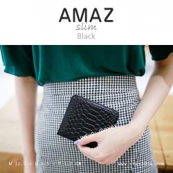 กระเป๋าสตางค์ผู้หญิง แบบบาง รุ่น AMAZ Slim สีดำ