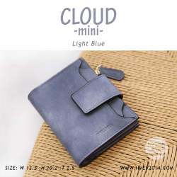 กระเป๋าสตางค์ผู้หญิง CLOUD-MINI สีฟ้า