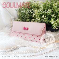 กระเป๋าสตางค์ สะพายข้าง รุ่น Soulmate สีชมพู