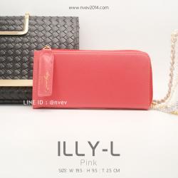 กระเป๋าสตางค์ผู้หญิง ILLY-L สีชมพู