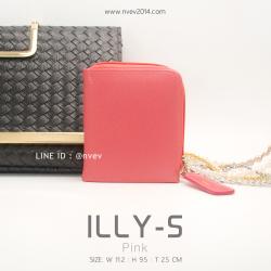 กระเป๋าสตางค์ผู้หญิง ILLY-S สีชมพู