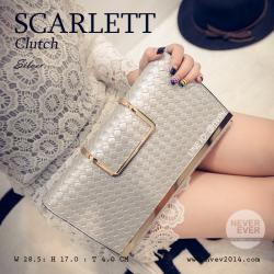 กระเป๋าคลัชท์ผู้หญิง รุ่น SCARLETT สีเงิน