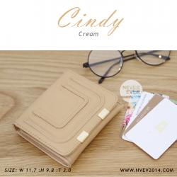กระเป๋าสตางค์ผู้หญิง CINDY สีครีม