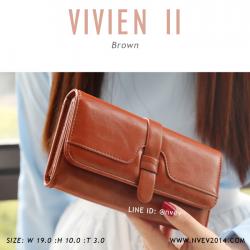 กระเป๋าสตางค์ผู้หญิง รุ่น VIVIEN II สีน้ำตาล