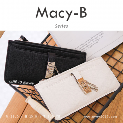 กระเป๋าสตางค์ผู้หญิง ทรงถุง รุ่น MACY-B สีครีม