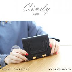 กระเป๋าสตางค์ผู้หญิง CINDY สีดำ