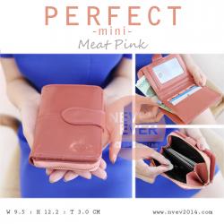 กระเป๋าสตางค์ผู้หญิง รุ่น PERFECT-mini สีชมพู ใบสั้น