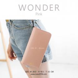 กระเป๋าสตางค์ผู้หญิง รุ่น WONDER สีชมพู