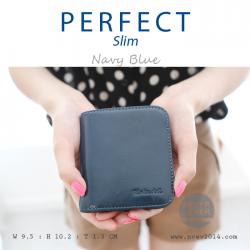 กระเป๋าสตางค์ผู้หญิง PERFECR Slim สีน้ำเงิน