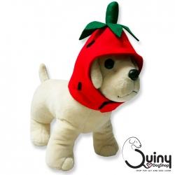 หมวกสุนัข สตอเบอร์รี่ สีแดง