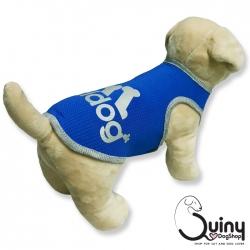 เสื้อสุนัข แขนกุด Adidog สีน้ำเงิน
