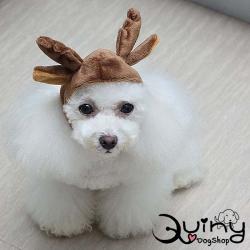หมวกสุนัข กวางเรนเดียร์ สีน้ำตาล