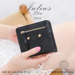กระเป๋าสตางค์ผู้หญิง JULIUS Slim สีดำ