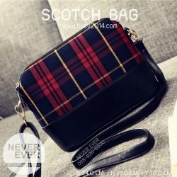 กระเป๋าสะพายข้าง รุ่น SCOTCH BAG-Red