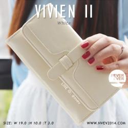กระเป๋าสตางค์ผู้หญิง รุ่น VIVIEN II สีขาว