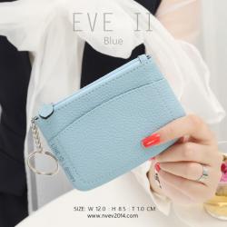 กระเป๋าสตางค์ ใส่เหรียญ รุ่น EVE II สีฟ้า