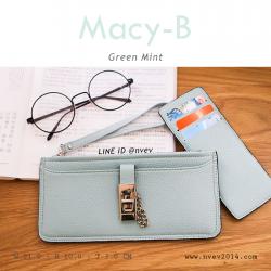 กระเป๋าสตางค์ผู้หญิง ทรุงถุง รุ่น MACY-B สีเขียวมินท์