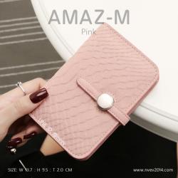 กระเป๋าสตางค์ผู้หญิง ขนาดกลาง รุ่น AMAZ -M สีชมพู