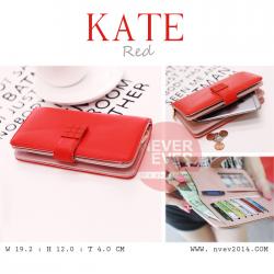 กระเป๋าสตางค์ผู้หญิง รุ่น KATE สีแดง ใบยาว