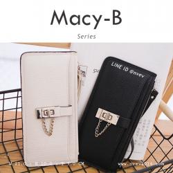 กระเป๋าสตางค์ผู้หญิง ทรงถุง รุ่น MACY-B สีดำ