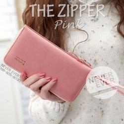 กระเป๋าสตางค์ผู้หญิง รุ่น THE ZIPPER-Pink