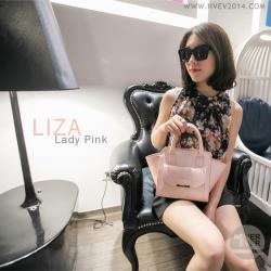 กระเป๋าสะพายข้าง รุ่น LIZA สีชมพูนู้ด Lady Pink