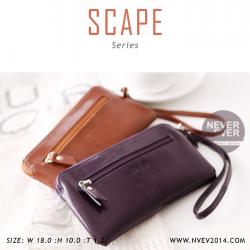 กระเป๋าสตางค์ผู้หญิง ทรงถุง สีม่วง รุ่น SCAPE