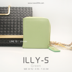 กระเป๋าสตางค์ผู้หญิง ILLY-S สีเขียว