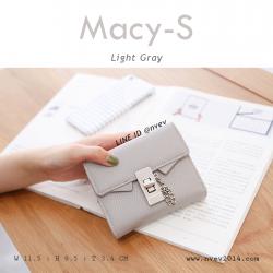 กระเป๋าสตางค์ผู้หญิง ใบสั้น รุ่น MACY-S สีเทาอ่อน