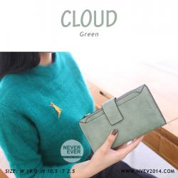 กระเป๋าสตางค์ผู้หญิง รุ่น CLOUD สีเขียว ใบยาว