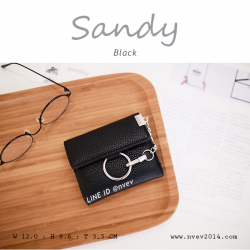 กระเป๋าสตางค์ผู้หญิง ใบสั้น รุ่น SANDY สีดำ