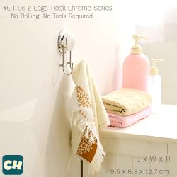 CH-06 ตะขอ 2 ขา รุ่น Chrome Series ไม่ต้องเจาะผนัง