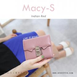 กระเป๋าสตางค์ผู้หญิง ใบสั้น รุ่น MACY-S สีแดง อินเดีย