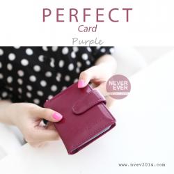 กระเป๋าใส่บัตร รุ่น PERFECT Card สีม่วง
