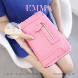 กระเป๋าสตางค์ผู้หญิง รุ่น EMMA สีชมพู Pink