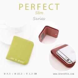 กระเป๋าสตางค์ผู้หญิง PERFECR Slim สีเขียวมะนาว