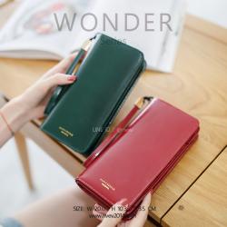 กระเป๋าสตางค์ผู้หญิง รุ่น WONDER สีแดง