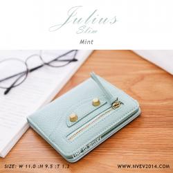 กระเป๋าสตางค์ผู้หญิง JULIUS Slim สีเขียวมิ้นท์