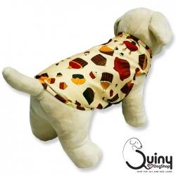 เสื้อสุนัข แขนกุด ลายเค้กสีครีม