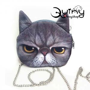 กระเป๋าหน้าแมว เปอร์เซีย สายโซ่
