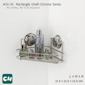 CH-35 ชั้นวางเข้ามุม ขนาด 21.5x21.5x13 CM. รุ่น Chrome Series ไม่ต้องเจาะผนัง