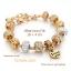ข้อมือมูลาโน Murano glass beads Gold plateed thumbnail 1