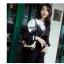 กระเป๋าหนังแกะ gabrielle bag size 20 (สีขาว-ดำ) thumbnail 6