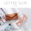 กระเป๋าสตางค์ผู้หญิง ใบยาว แบบบาง เรียบ รุ่น LETTER SLIM thumbnail 2