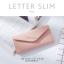 กระเป๋าสตางค์ผู้หญิง ใบยาว แบบบาง เรียบ รุ่น LETTER SLIM thumbnail 6